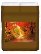 Autumn Cameo Road Duvet Cover by Terri Gostola