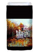 Autumn Carriage Duvet Cover