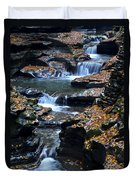Autumn Cascade Duvet Cover by Frozen in Time Fine Art Photography