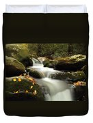 Autumn Cascades In Tennessee Duvet Cover