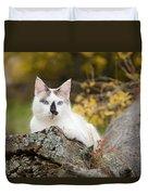 Autumn Cat Duvet Cover