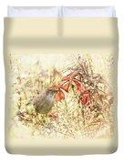 Autumn Catbird Duvet Cover