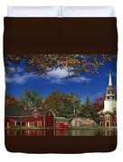 Autumn Church Row Duvet Cover