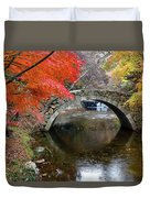 Autumn Color And Old Stone Arched Duvet Cover