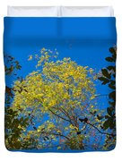 Autumn Colors Against The Sky Duvet Cover