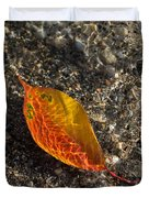 Autumn Colors And Playful Sunlight Patterns - Cherry Leaf Duvet Cover