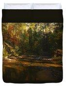 Autumn Colors By The Creek  Duvet Cover