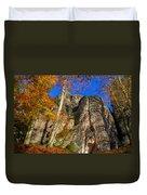 Autumn Colors In The Saxon Switzerland Duvet Cover