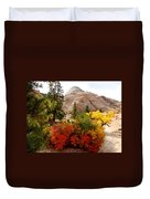Autumn Colors In Zion's Highlands-ut Duvet Cover