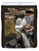 Autumn Colors On Big Crabtree Creek Duvet Cover