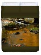 Autumn Colors On Little River Duvet Cover