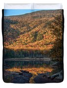 Autumn Colors Reflected In Stream Duvet Cover