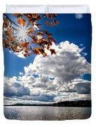Autumn  Confidential  Duvet Cover by Bob Orsillo