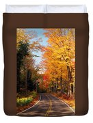 Autumn Country Road Duvet Cover