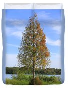 Autumn Cypress Tree Duvet Cover
