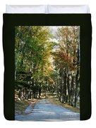 Autumn Drive Duvet Cover