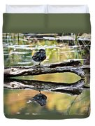 Autumn Duck Reflections Duvet Cover