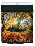 Autumn Fall Landscape In Forest Duvet Cover
