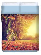 Autumn Fall Landscape In Park Duvet Cover