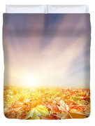 Autumn Fall Landscape Duvet Cover