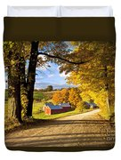 Autumn Farm In Vermont Duvet Cover