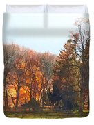 Autumn Farm With Harrow Duvet Cover