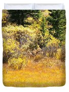 Autumn Fire In The Grass Duvet Cover