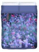Autumn Flowers In Blue Duvet Cover