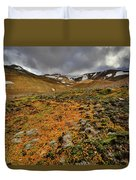 Autumn Foliage And Snowcapped Mountain Duvet Cover