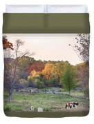 Autumn Forage Before Winter's Arrival Duvet Cover