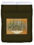Autumn Forest - George Washington Carver Quote Duvet Cover