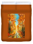 Autumn Forest Impression Duvet Cover