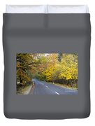 Autumn Forest Road Duvet Cover