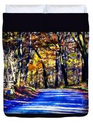 Autumn Forest Road V6 Duvet Cover