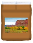 Autumn Gold On Highway 211 Going Into Needles District Of Canyonlands National Park-utah   Duvet Cover