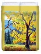 Autumn Gold Yosemite Valley Duvet Cover