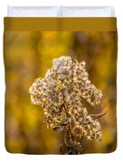 Autumn Goldenrod And A Poser Duvet Cover