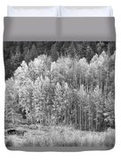 Autumn Grazing Horses Bonanza Bw Duvet Cover by James BO  Insogna