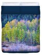 Autumn Grazing Horses Bonanza Duvet Cover by James BO  Insogna