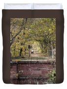 Autumn Hike On The C And O Canal Towpath At Seneca Creek Duvet Cover