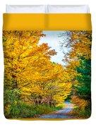 Autumn Hike - Paint Duvet Cover
