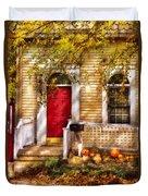 Autumn - House - A Hint Of Autumn  Duvet Cover