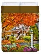 Autumn - House - The Beauty Of Autumn Duvet Cover