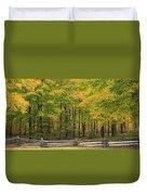 Autumn In Door County Duvet Cover
