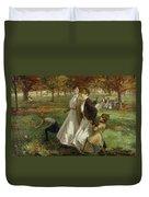 Autumn In Kensington Gardens Duvet Cover