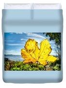Autumn In Lyme Regis Duvet Cover