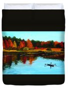 Autumn In Michigan Duvet Cover