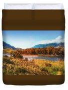 Autumn In Montana Duvet Cover