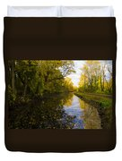 Autumn In Morrisville Pa Along The Delaware Canal Duvet Cover