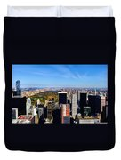 Autumn In New York City Duvet Cover